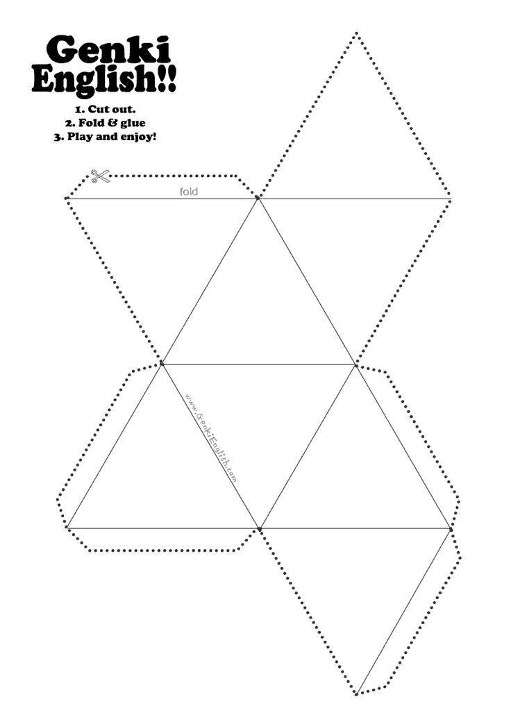 8 sided dice template | Genki English