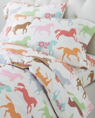 Pony Up Percale Bedding , Lucy insisted on horses and this is one of the few out there that is cute.