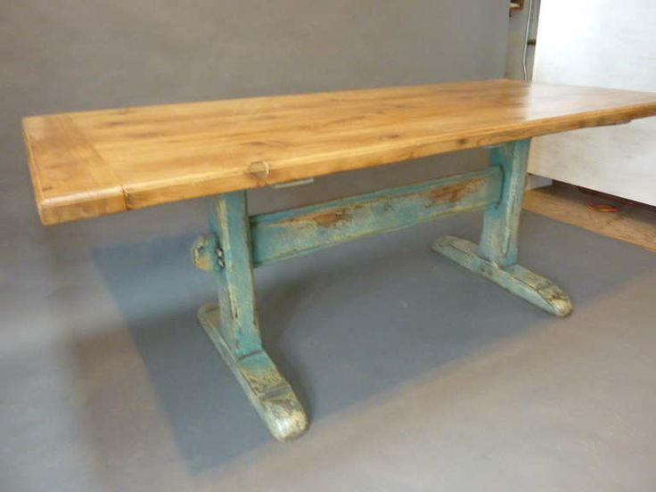 19th Century Scandinavian Painted Trestle Table