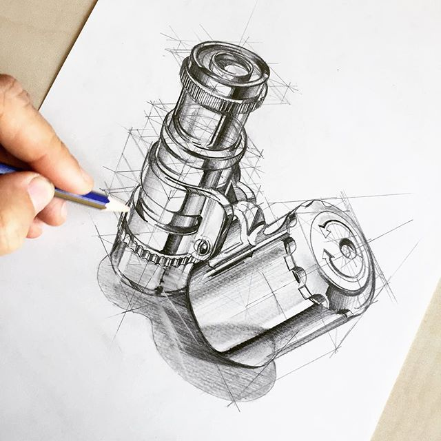 Pocket microscope for today #idsketching #illustration #industrialdesign #viscom #designsketch #productdesign #sketch #sketching #drawing