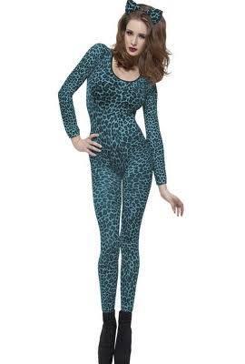 Leopard blue print bodysuit - Also in pink!