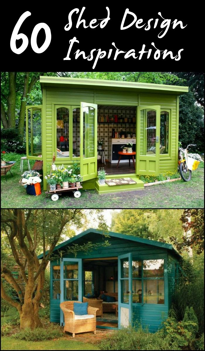 Need a shed? Maybe this collection will inspire you to build your own now! ;)