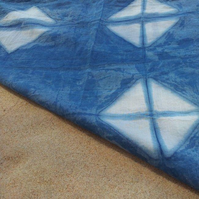 Pareo de Shibori *** Shibori beach wrap #ShiboristasEnLaPlaya *** #ShiboriLoversInTheBeach