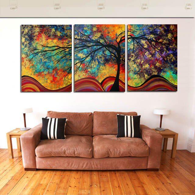 online shop grosse wand kunst abstrakte baum malerei bunte landschaft gemalde leinwand bild fur home wohnzimmer dek wande bunt mit foto sonderformat