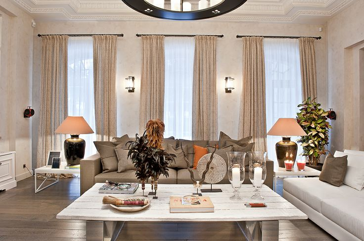 Luxury living room  Project by Galerie 46 design studio  St.Petersburg, Russia