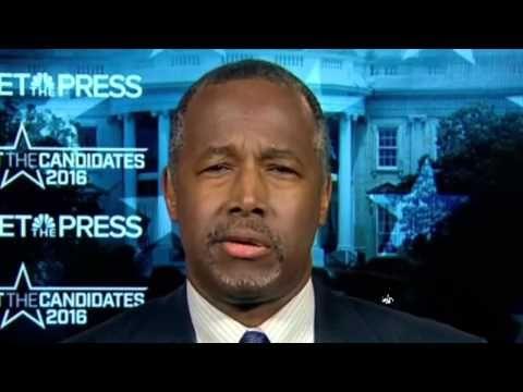 Ben Carson Meet The Press FULL Interview On Trump, Black Lives Matter, Debate - YouTube