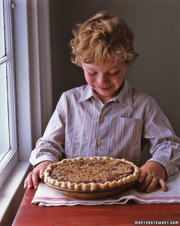 Pennsylvania Dutch Shoofly Pie - The sweet filling of this old-fashioned pie gets color and depth from molasses. The top is sprinkled with a crumb topping spiced with cinnamon and nutmeg.