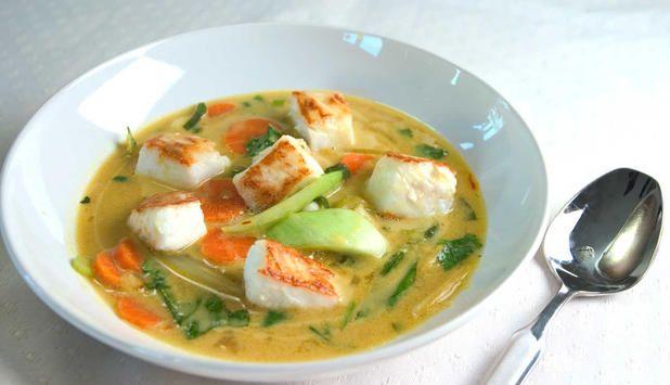 Kveite i en spennende asiatisk kombinasjon med chili, ingefær og sitrongress. #fisk #oppskrift