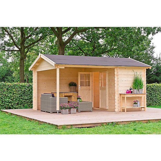 Outdoor Life Products blokhut Walter (427x300 cm)? Bestel nu bij wehkamp.nl