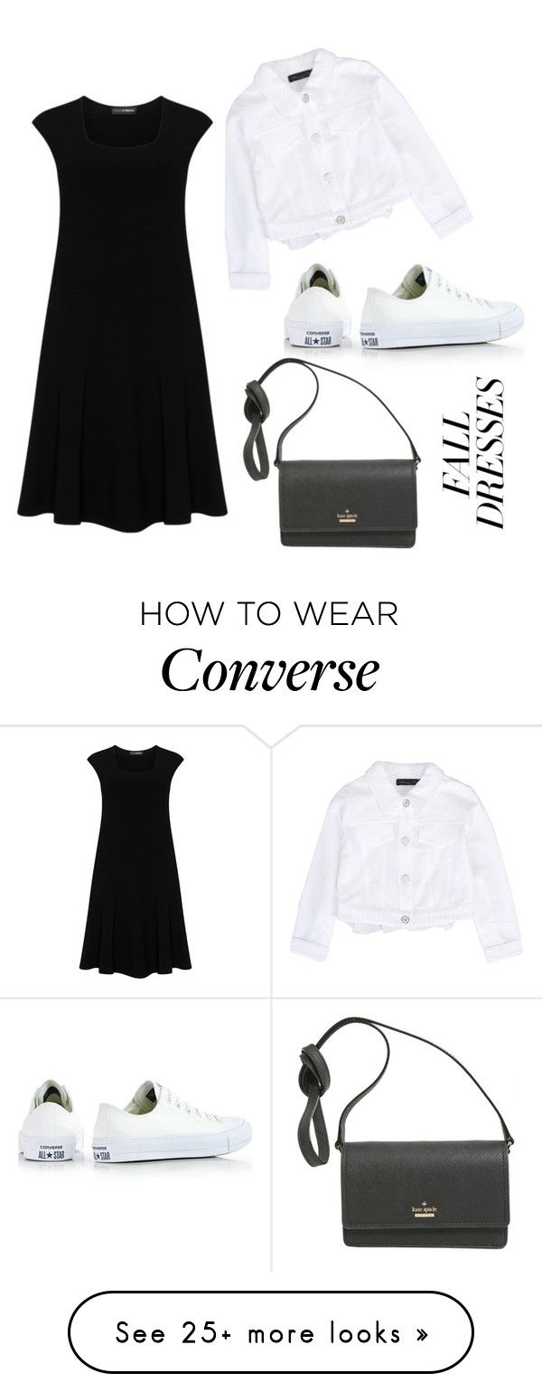 """""""fall dresses"""" by mardhaep on Polyvore featuring Doris Streich, Blumarine, Converse and Kate Spade"""