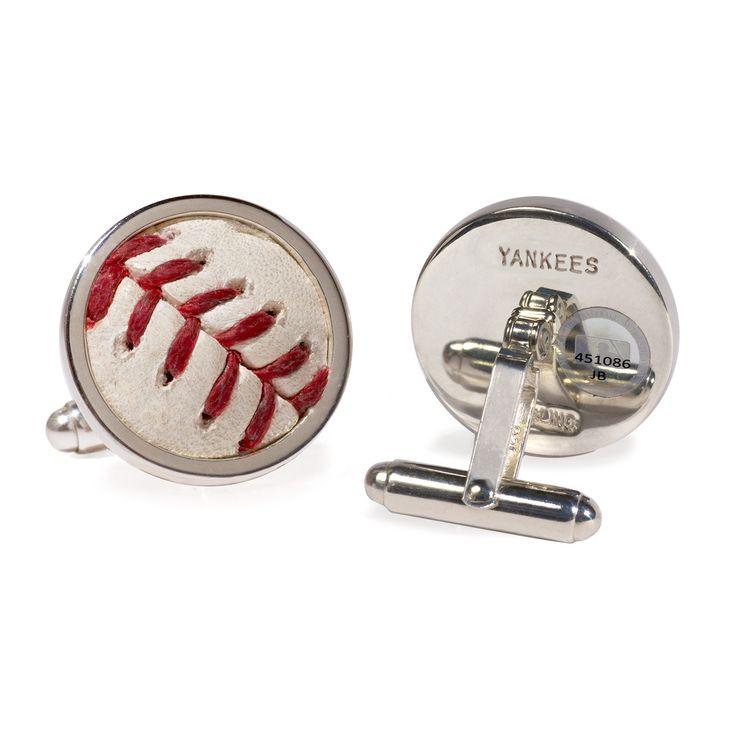 New York Yankees Game Used Baseball Cufflinks