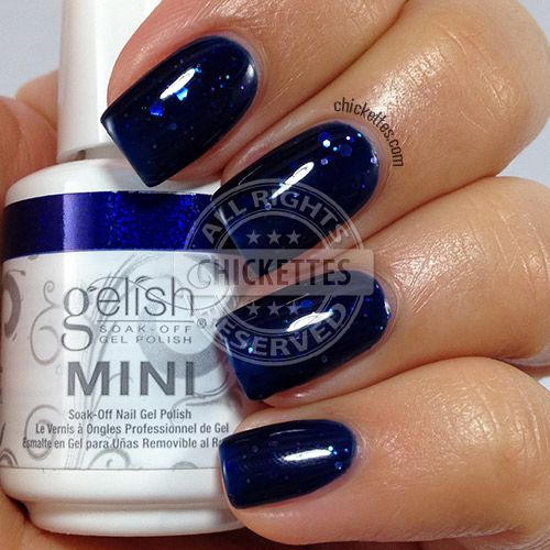Gelish Haute Holidays - Here's to the Blue Year - Chickettes.com