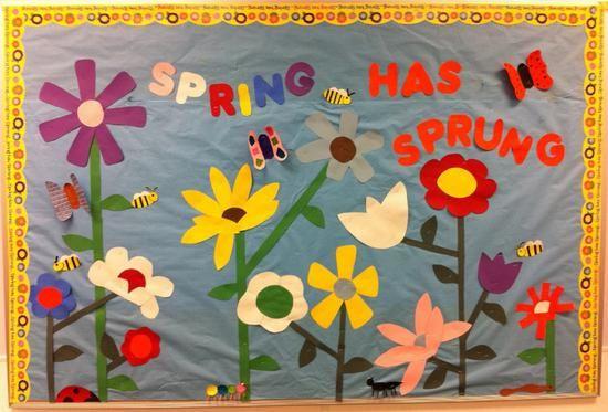 Flower Spring Bulletin Board Idea