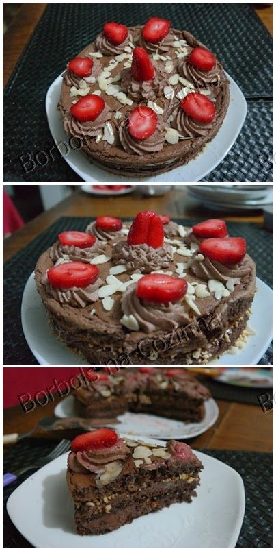 Bolo Mousse de chocolate sem farinha sem açúcar