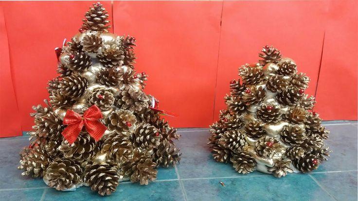 how to make thermocol christmas tree