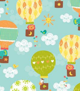 17 best images about hot air balloons on pinterest for Kids jungle fabric
