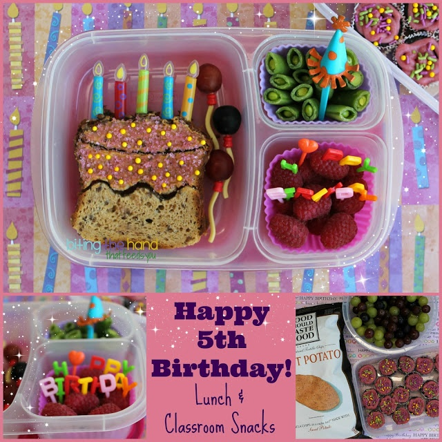 Biting The Hand That Feeds You: Happy 5th Birthday Bento and Classroom Snacks!