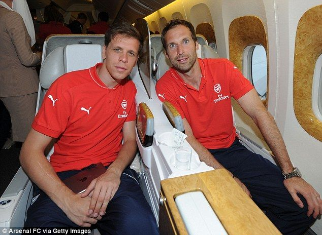 Wojciech Szczesny and Petr Cech sat next to each other on the 13-hour flight from London t...