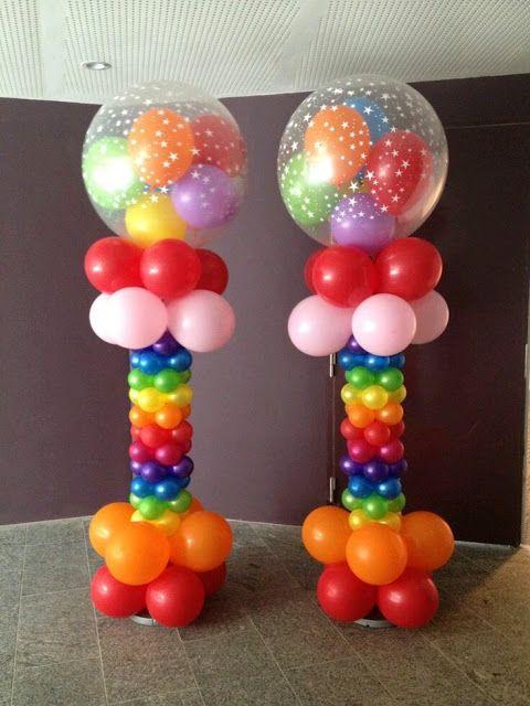 ms y ms aprende cmo hacer una columna de globos para fiestas