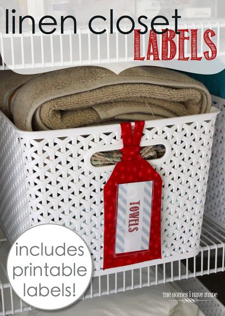 TONS of printable tags for closets of all kinds!