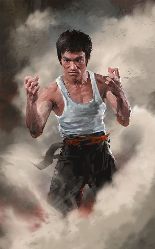 "Bruce Lee ""The MAN"" (Dunway Enterprises)  http://www.learn-to-draw.org/caricatures_clb.html?hop=dunway"