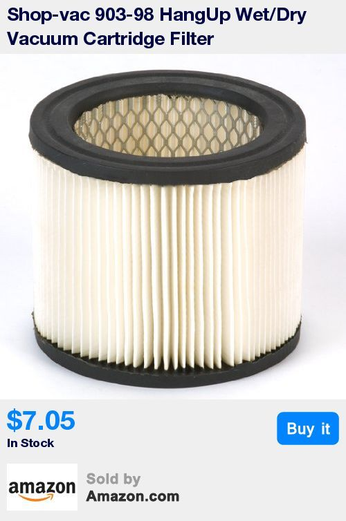 High efficiency dry filter * Fits only Shop-Vac® HangUp® wet and dry vacuum 952-02 * Cartridge filter * Genuine Shop Vac Part * Easy to Use