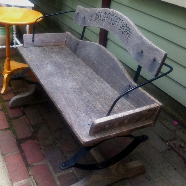 Horse And Buggy Seat Reused As A Bench Smithville