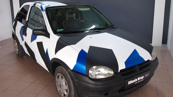 Opel Corsa B Stylizacja Oklejanie samochodów Siemianowice Śląskie www.silesiawrap.pl
