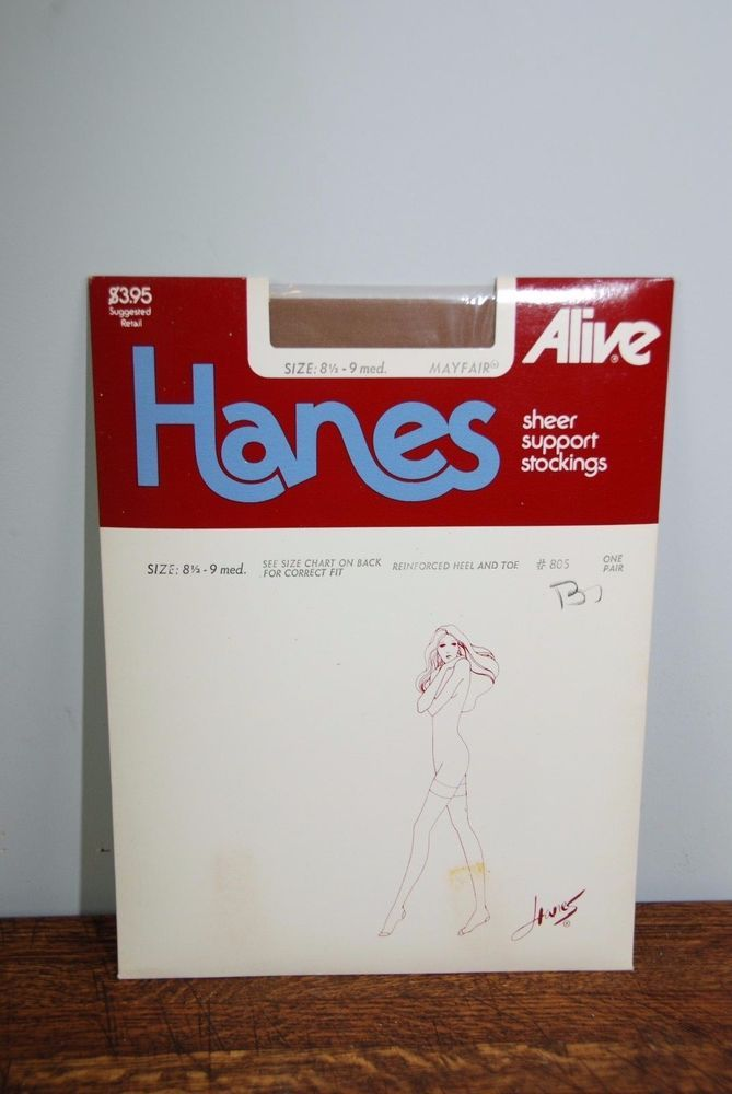 Hanes Alive Sheer Support Stockings Size 9 1/2-10 Medium Mayfair #Hanes #Stockings