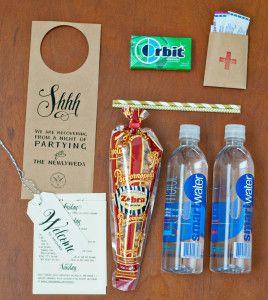 Wedding Favor Bag Contents : ... wedding stuff dream wedding wedding ideas wedding welcome bags wedding