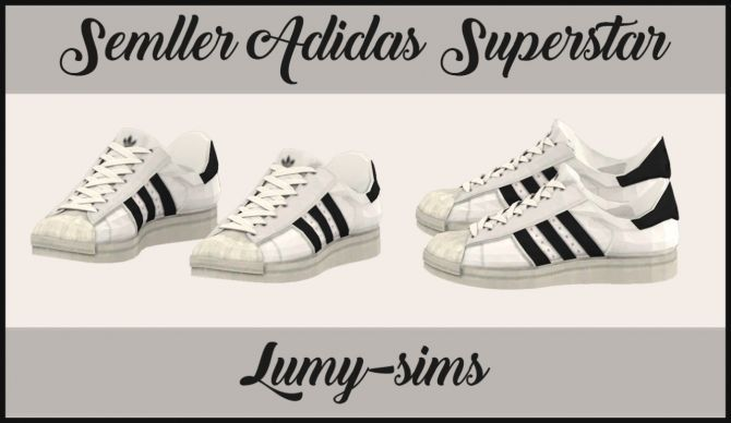 Supernatural Style | https://pinterest.com/SnatualStyle/  Semller's Superstar sneakers conversion at Lumy Sims via Sims 4 Updates