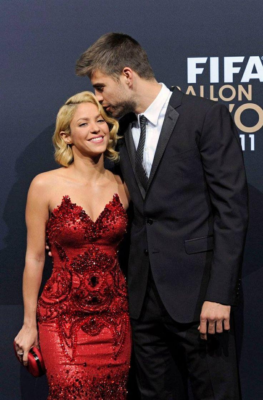 Shakira y Gerad Piqué futbolista del Barsa,F.C.B.