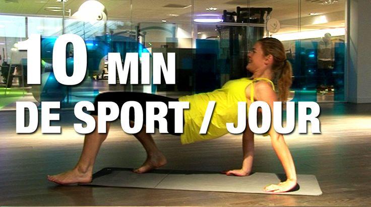 10 minutes de sport par jour : ma séance de 10 minutes de gym par jour en vidéo - une vidéo forme - Doctissimo
