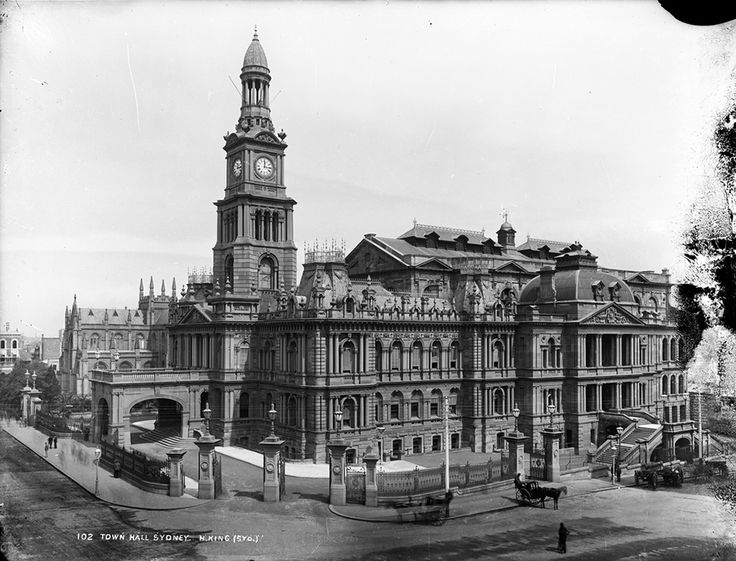 Sydney Town Hall,George St,Sydney in c1894.Photo from Dictionary of Sydney.A♥W