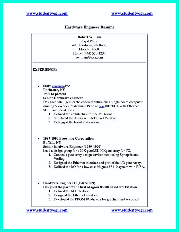 awesome The Perfect Computer Engineering Resume Sample to Get Job Soon,