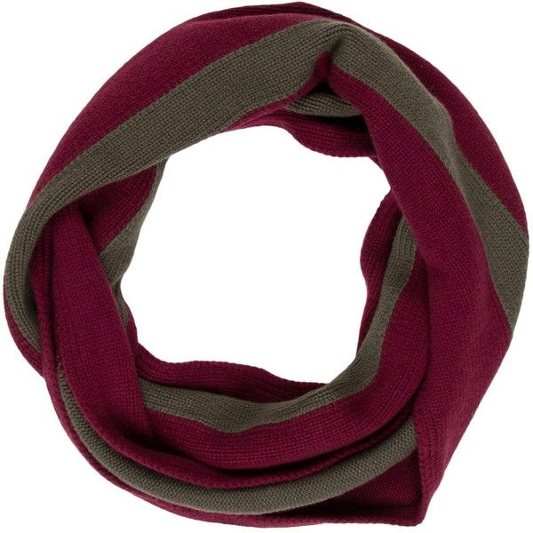 Pre-owned Herm?s Stripe Cashmere Infinity Scarf (7,485 EGP) ❤ liked on Polyvore featuring men's fashion, men's accessories, men's scarves, burgundy, mens tube scarf, mens infinity scarf, mens cashmere scarves and hermes mens scarves
