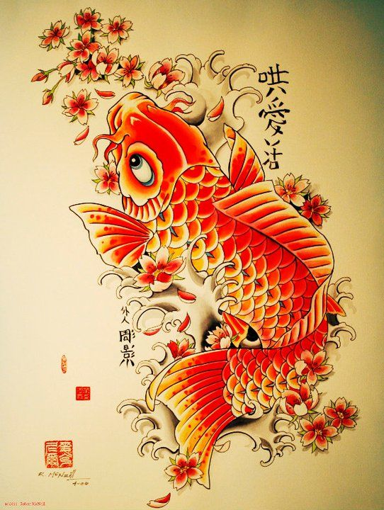koi fish tattoo - Google Search