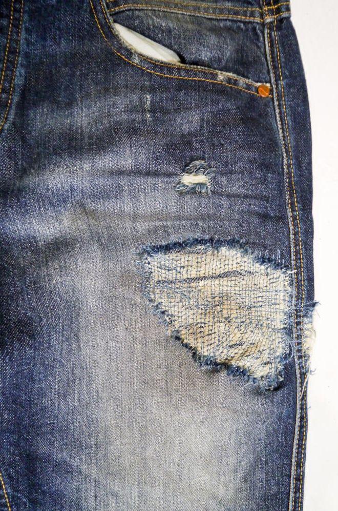 #broken #detail #denim #jeans