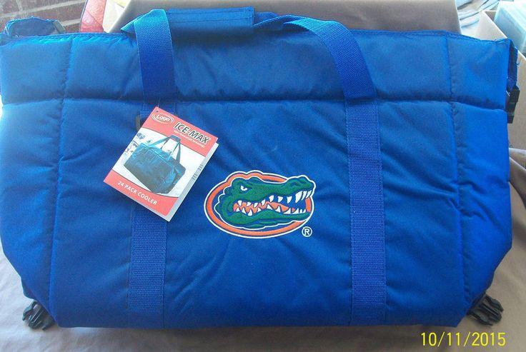 Florida Gators Logo Ice Max Insulated Cooler Bag Blue 24 pack Football New #LogoIceMax #FloridaGators