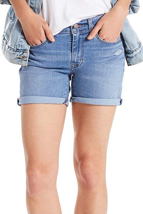 7bac3a1f Short Levi's Women's Mid Length Shorts, Ready Set Indigo, 29 (US 8 ...