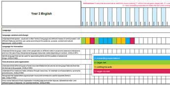 Australian Curriculum Year 2 English Assessment Tracker - Australian Curriculum Year 2 English  Assessment Tracker, literacy, assessment, australian curriculu