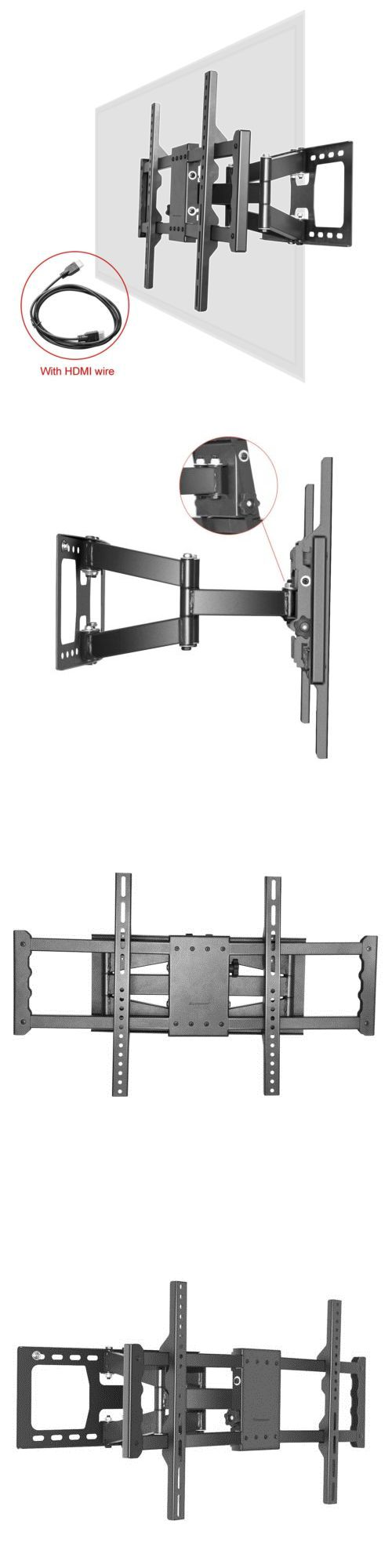 TV Mounts and Brackets: Full Motion Tilt Lcd Led Tv Wall Mount Bracket 42 46 47 50 55 60 62 Inch -> BUY IT NOW ONLY: $35.99 on eBay!