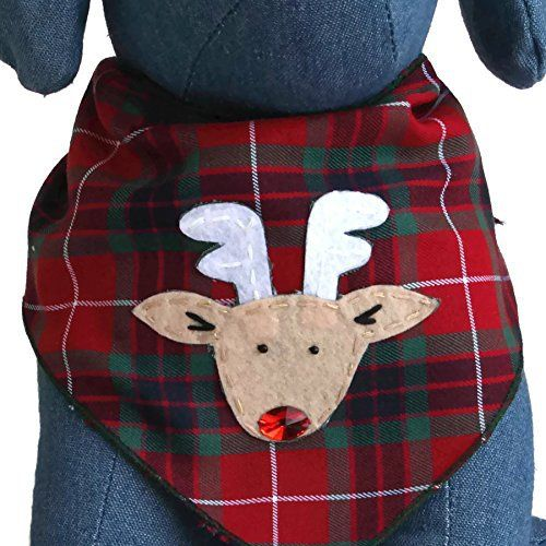 Rudolph the Red Nose Reindeer Christmas Dog Bandana for Medium to Large Dogs Pets 100% Cotton (Large) - http://www.bunnybits.org/rudolph-the-red-nose-reindeer-christmas-dog-bandana-for-medium-to-large-dogs-pets-100-cotton-large/