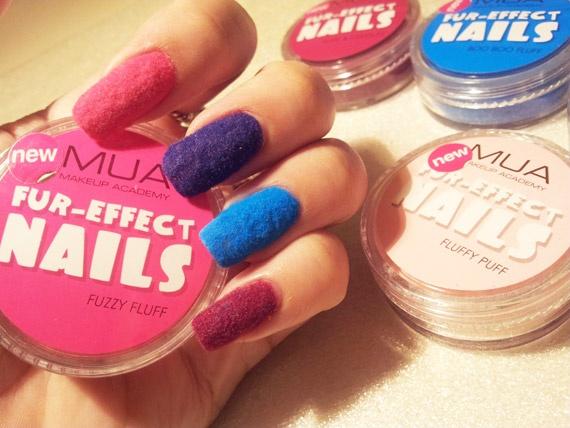 Fuzzy Nails con polvere Fur di Mua makeup, info: http://www.beautydea.it/fuzzy-nails-polvere-fur-mua-makeup/