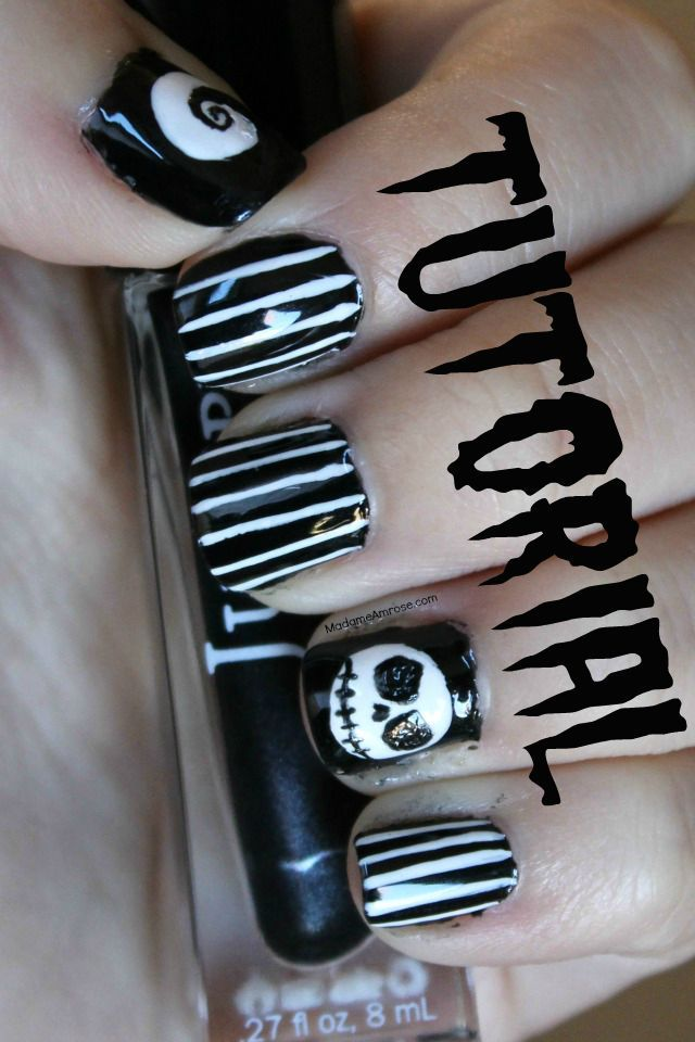 Really quick and easy nail art tutorial with Jack Skellington, the creepy  hill, and - 23 Best Dana's Nail Art Creations Images On Pinterest Nail Art