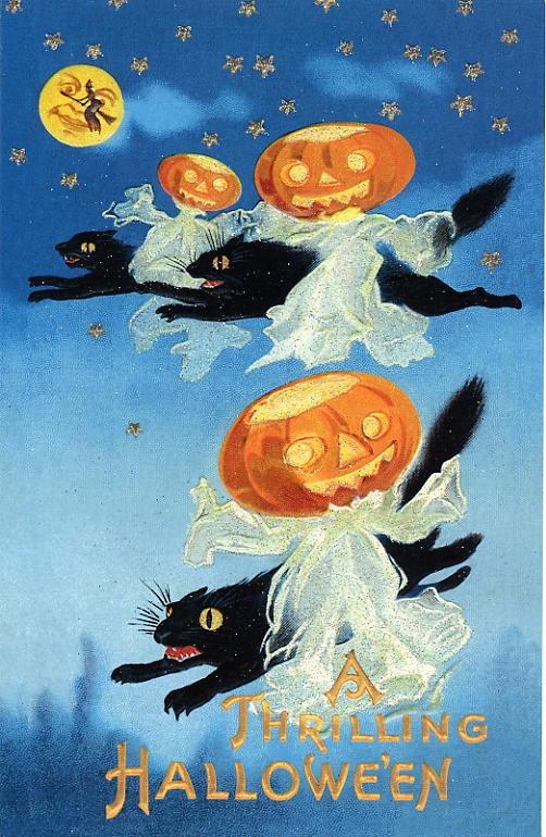 Halloween, Halloween Greeting Cards, Halloween Party Invitations, Vintage Halloween Cards