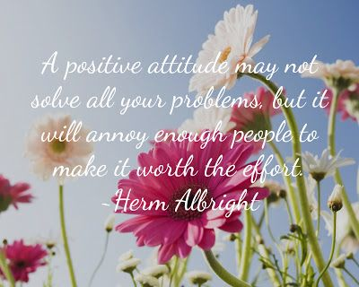 Een positieve houding kan niet oplossen