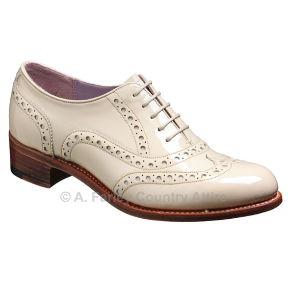 Barker Ladies Shoes – Sloan – Beige Patent – Oxford Brogue http://www.afarleycountryattire.co.uk/shop/barker-ladies-shoes-sloan-beige-patent-oxford-brogue/ #barkershoes #brogues