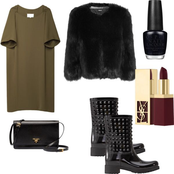 NYE by voicuandrada on Polyvore featuring Maison Margiela, DKNY, Prada, Yves Saint Laurent and OPI