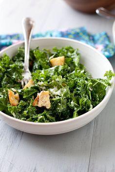 Massaged Kale Caesar Salad   Annies Eats by annieseats, via Flickr